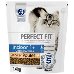 Perfect Fit Perfect fit Croquettes riche en poulet Indoor 1+ pour chats stérilisés le sac de 1,4 kg