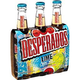 Desperados Desperados Lime - Bière aromatisée Tequila citron vert cactus les 3 bouteilles de 33cl