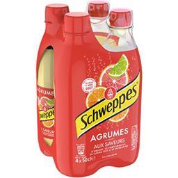 Schweppes Schweppes Soda Agrumes aux saveurs de 4 agrumes les 4 bouteilles de 50 cl