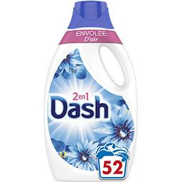 Dash Dash Lessive liquide envolée d'air 52lavages La bouteille de lessive de 2.6l
