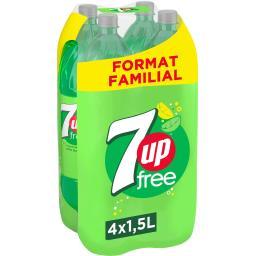 Seven Up Seven Up Free - Sodas sans sucres citron & citron vert les 4 bouteilles de 1,5 l