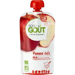 Good Goût Good Goût Compote pomme gala BIO, dès 4 mois la gourde de 120 g