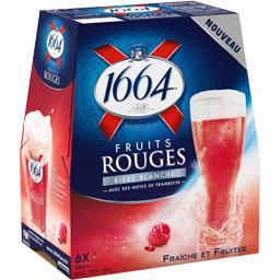 1664 1664 Fruits Rouges - Bière blanche aromatisée aux fruits rouges le pack de 6x25cl