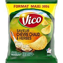 Vico Vico Chips saveur chèvre chaud & herbes le paquet de 300 g - Format Maxi