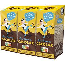 Cacolac Cacolac Lait chocolaté réduit en sucres les 3 briques de 20 cl