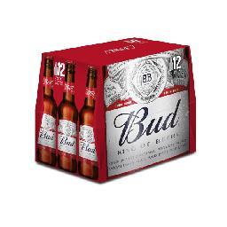 Budweiser Bud Bière les 12 bouteilles de 25 cl