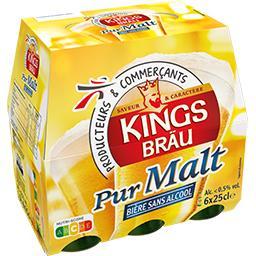 Kingsbräu Kingsbräu Bière pur malt sans alcool les 6 bouteilles de 25 cl