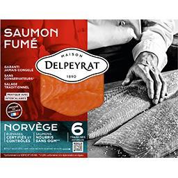 Delpeyrat Delpeyrat Saumon fumé Norvège le paquet de 6 tranches - 210 g