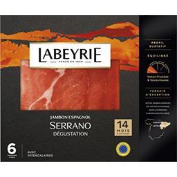 Labeyrie Labeyrie Jambon d'Espagne Serrano 14 mois d'affinage le paquet de 6 tranches - 100g