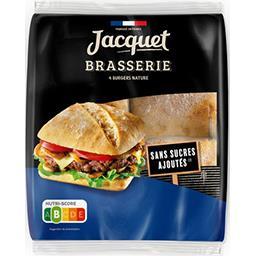 Jacquet Jacquet Burgers brasserie nature le paquet de 4 pains - 330 g