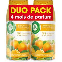 Recharges plaisir d'agrumes et zeste de mandarine