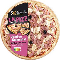 Sodeb'O Sodebo La Pizz jambon emmental la pizza de 470 g