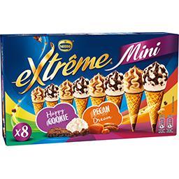 Nestlé Extrême Mini cônes Happy Cookie-Pécan Dream la boite de 8 - 312 g