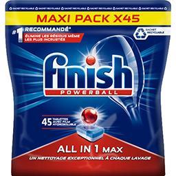 Finish Finish Powerball - Tablettes lave-vaisselle Tout en 1 la boite de 45 tablettes - 733,5 g