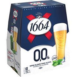1664 1664 0,0% - Bière blonde sans alcool le pack de 6x25cl