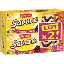 Brossard Brossard Savane - Gâteau marbré chocolat noir les 2 boites de 310 g