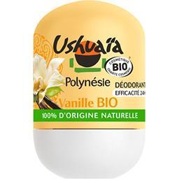 Ushuaïa Ushuaïa Déodorant efficacité 24h, vanille BIO le roll-on de 50 ml