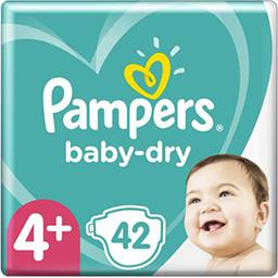 Pampers Pampers Couches baby-dry taille 4+, 10-15kg Le paquet de 42 couches