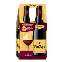 Vieux Papes Notre Sélection Vieux Papes, vin rouge les 4 bouteilles de 75cl