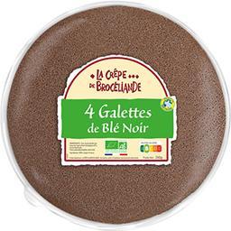 La Crêpe de Brocéliande La Crêpe de Brocéliande Galettes de blé noir BIO le sachet de 4 crêpes - 260 g