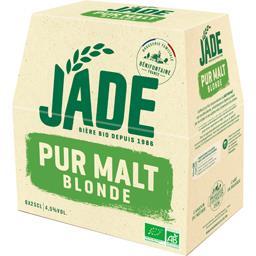 Jade Jade Bière blonde BIO pur malt les 6 bouteilles de 25 cl