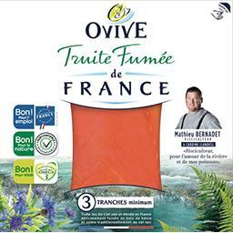 Ovive Ovive Truite fumée de France la barquette de 3 tranches - 100 g