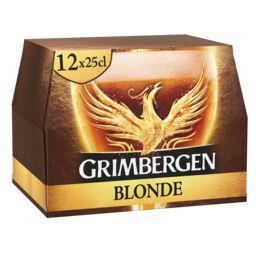 Grimbergen Grimbergen Bière blonde les 12 bouteilles de 25 cl