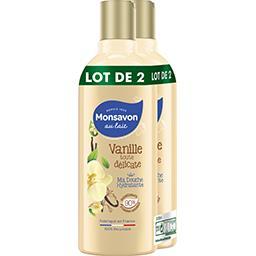 Monsavon Monsavon Gel douche vanille toute délicate le lot de 2 flacons de 300ml