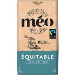 Méo Méo Café moulu Equitable pur arabica le paquet de 250 g