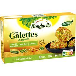 Bonduelle Bonduelle Galettes de légumes duo de courgettes pois doux carottes la boite de 8 galettes - 300 g