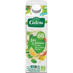 Cidou Cidou Le BIO - Boisson jus & infusion pomme citrons menthe BIO la brique de 1 l