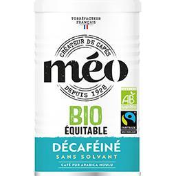 Méo Méo Café moulu décaféiné équitable bio le paquet de 250 g
