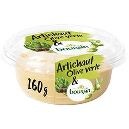 Boursin Boursin Tartinable apéritif artichaut & olive verte la barquette de 160 g