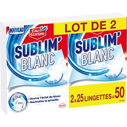 Eau Ecarlate Eau Ecarlate Lingettes Blanc Intense le lot de 2 boites de 25