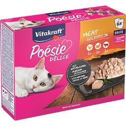 Vitakraft Vitakraft Pâté en sauce au poulet, dinde et bœuf pour chats les 6 sachets de 85g - 510g