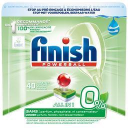 Finish Finish Powerball - Tablettes lave-vaisselle Tout en Un 0% le sachet de 40 tablettes - 640 g