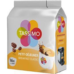 Tassimo Tassimo Dosettes de café petit-déjeuner classique les 16 dosettes