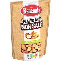 Bénénuts Bénénuts Mélange de noix Plaisir Brut non salé le sachet de 140 g