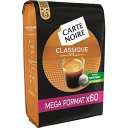 Carte Noire Carte Noire Dosettes de café moulu Classique le paquet de 60 dosettes - 420 g - Mega Format