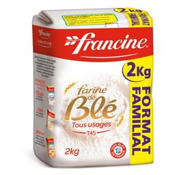 Francine Francine Farine de blé tous usages T45 le paquet de 2 kg - Format Familial