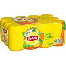 Lipton Lipton Ice Tea - Boisson au thé et à la pêche les 12 boites de 15 cl
