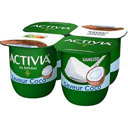 Danone ACTIVIA Lait fermenté saveur coco le 4 pots de 125 g