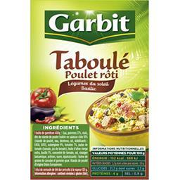 Garbit Garbit Taboulé poulet rôti légumes du soleil basilic la boite de 525 g