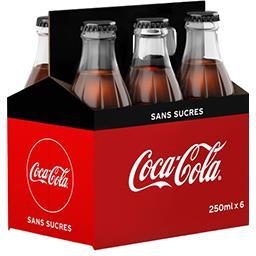 Coca Cola Coca-Cola Soda sans sucres les 6 bouteilles de 250ml - 1.5l