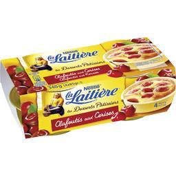 Nestlé La Laitière Clafoutis aux cerises les 4 pots de 85 g