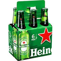 Heineken Heineken Bière blonde les 6 bouteilles de 33cl