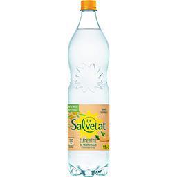 Salvetat Salvetat Eau gazeuse clémentine de méditerranée sans sucres la bouteille de 1,15 l