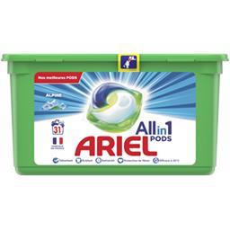 Ariel Ariel Lessive en capsules All in 1 pods alpine La boîte de 31 lavages