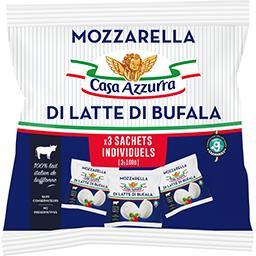 Casa Azzurra Casa azzurra Mozzarella Di Latte Di Bufala les 3 fromages de 100 g net égoutté