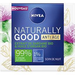 Nivea Nivea Naturally Good - Soin anti-âge nuit bardane & argan BIO le pot de 50 ml